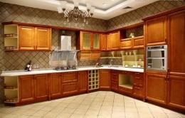 天津實木櫥柜廠家定制實木櫥柜酒柜整體廚房
