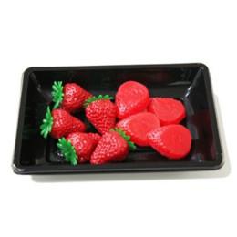 环保PS黑色水果吸塑盒