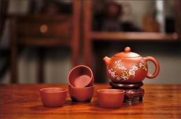 梅花西施珐琅彩紫砂壶清水泥精美高端包装