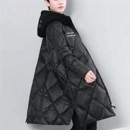 新款女式棉衣M-XXXL中长款爆款棉服棉衣批发