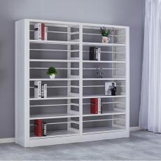 书架钢制 钛合金可调节层板 图书馆