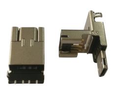 AM USB2.0翻盖式二合一公头 焊板OTG带Micro