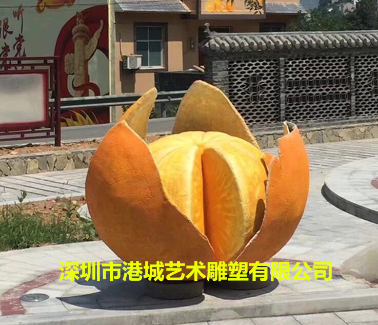 仿真水果宣传玻璃钢柑橘橘子桔子砂糖橘雕塑图片