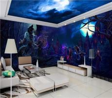 卧室客房壁画酒店配画乐山市客房壁画