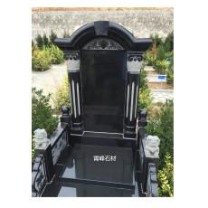 中国黑墓碑 中国黑花岗岩墓碑厂家 黑色墓碑