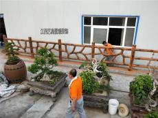 湖南永州新农村建设鱼塘仿树藤围栏