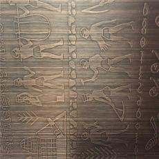 蚀刻青古铜不锈钢镀铜板