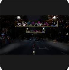 LED過街燈 跨街燈 橫跨燈