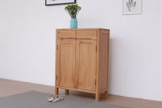 软装简约两门储物柜门厅柜刺绣背景墙手绘护