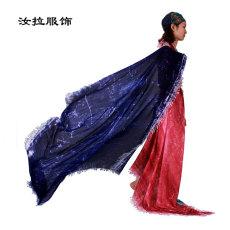 围巾生产厂家选汝拉服饰 专做印花围巾生产