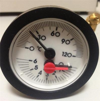 供应内径52mm0-6bar壁挂炉用温度压力表