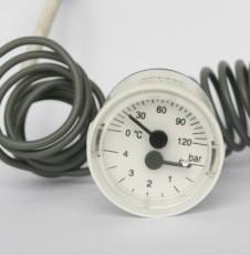供应内径40mm壁挂炉用毛细管蒸汽温度压力表