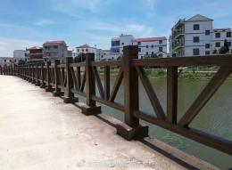 荆州河堤仿木栏杆施工制作 孝感仿树皮护栏