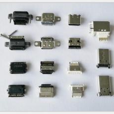 type-c防水母座6P/16P/24P板上/ 防水级IP7