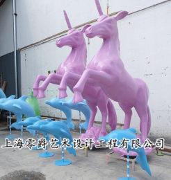 304景观美晨独角兽雕塑飞马小鹿摆件
