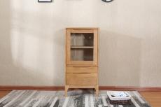软装全实木书架钢化玻璃书柜刺绣手绘背景墙