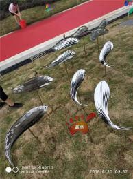 园林景观镜面不锈钢鱼雕塑小品寓意年年有余