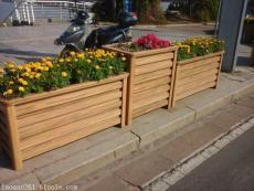 蘭州仿木鋁合金花箱 景觀綠化花壇