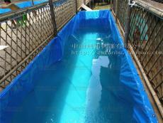 养殖水池定做 防水帆布水池加工 帆布鱼池
