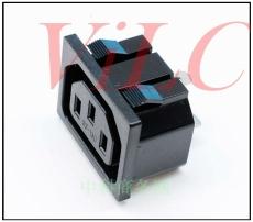180度卡板直插AC电源插座 品字形母座SS-180