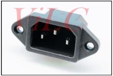 家用电器供电 AC电源插座 3P立插 带螺丝孔