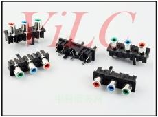 三孔AC电源插座/红白机-电视音视频连接器