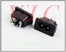 双孔AC电源插座 HM-8-6BS9 2P插件 横8口