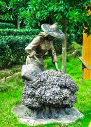 福建采乌龙茶玻璃钢仿铜人物雕塑定制零售价