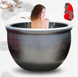 定做日式1.2米陶瓷泡澡缸 澡堂洗浴陶瓷大缸