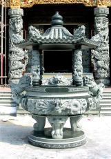 福建青石香爐 寺廟宗祠石雕香爐