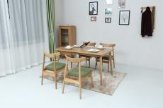 软装现桌椅组合刺绣背景墙手绘护墙板