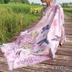 围巾定做价格 印花围巾生产工厂直供 汝拉