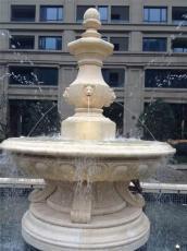 石材水钵 黄锈石喷泉 景观水钵喷泉