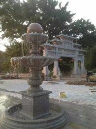 大理石风水球 风水球喷泉 景观流水雕塑