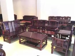 西安红木沙发电视柜批发 实木沙发六件套厂