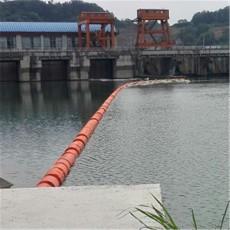 隔离水面垃圾浮筒水电站拦污装置
