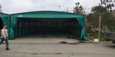 昆山石牌镇仓库雨篷安装 活动推拉雨棚
