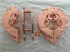 水鍍玫瑰金鋁板雕刻拉手有種土豪的氣息