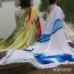 围巾生产商 工厂加工定制仿羊绒 真丝围巾厂