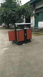 钢木垃圾桶不锈钢包边垃圾桶环卫金属设施