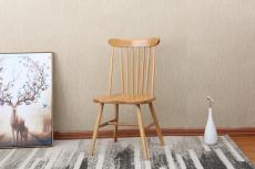 软装北欧全实木温莎椅子刺绣手绘护墙板背景