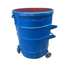 环卫大铁桶 圆形铁皮垃圾桶厂家挂车垃圾桶