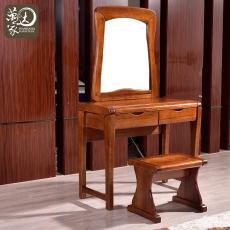 现代中式全实木梳妆台 金丝胡桃木妆台妆凳