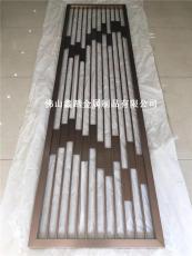 中国风拉丝玫瑰金不锈钢屏风工艺精细