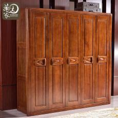 四门五门大衣柜衣橱卧室家具实木衣柜9101