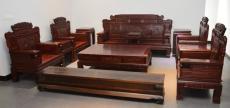 西安紅木沙發定制價格 明清老榆木家具廠家