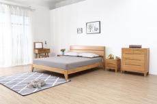 软装北欧实木床1.8米双人主卧刺绣手绘