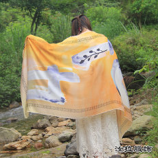 寧波梭織圍巾廠 印花工藝加工寧波圍巾