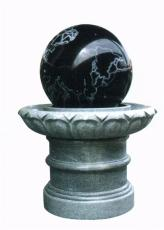 广场庭院小区石材喷泉 石材风水球