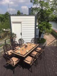 上海铸铝桌椅厂家古铜色户外桌椅定制价格